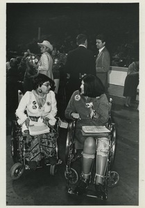 Thumbnail of Two delegates in wheelchairs