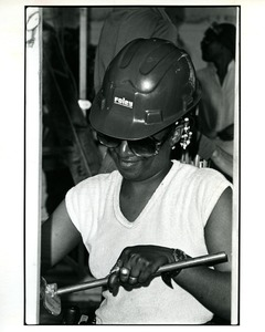 Thumbnail of Woman carpenter working