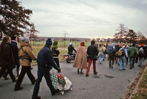 Thumbnail of Demonstrators head toward the Pentagon