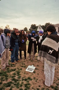 Thumbnail of Women demonstrators in front of the Pentagon