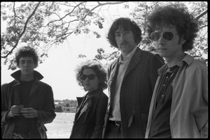 Thumbnail of The  Velvet Underground: (l.-r.) Lou Reed, Maureen Tucker, Sterling Morrison, and Doug Yule, posing by the Charles River