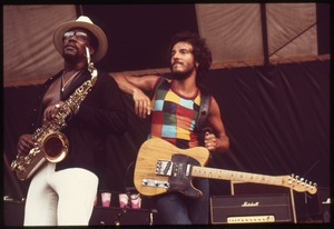 Thumbnail of Clarence Clemons and Bruce Springsteen onstage at the Music Inn