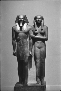 Thumbnail of Museum of Fine Arts: Egyptian sculpture, statue of King Menkaura (Mycerinus) and queen