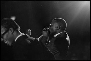 Thumbnail of Muddy Waters Blues Band at the Boston Tea Party: Luther 'Georgia Boy' Johnson (foreground) and Birmingham Jones playing harmonica