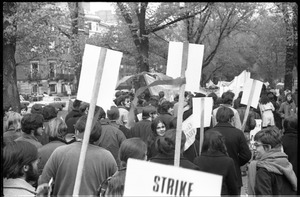 Thumbnail of Vote With your Feet anti-Vietnam War protest march protestors marching in Boston Garden