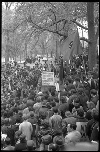 Thumbnail of Vote With your Feet anti-Vietnam War protest march throng of protestors in Boston Garden