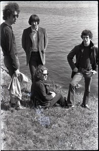 Thumbnail of Members of the Velvet Underground posing by the Charles River in Cambridge