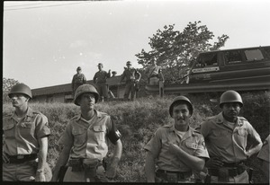 Thumbnail of Antiwar demonstration at Fort Dix, N.J.: military police