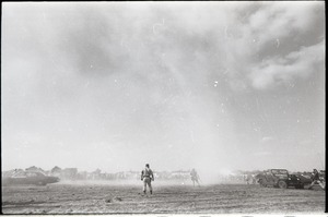 Thumbnail of Antiwar demonstration at Fort Dix, N.J.: military police deploying tear gas