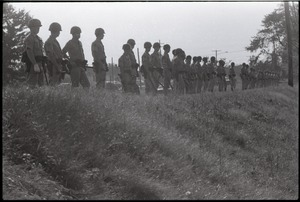 Thumbnail of Antiwar demonstration at Fort Dix, N.J.: line of military policeman