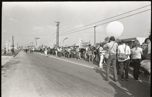 Thumbnail of Antiwar demonstration at Fort Dix, N.J.: protesters marching