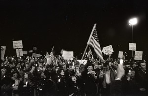 Thumbnail of Young Americans for Freedom pro-Vietnam War demonstration, Boston Common: Shot of crowd.