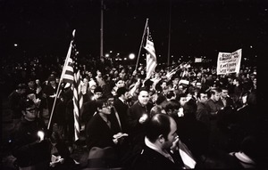 Thumbnail of Young Americans for Freedom pro-Vietnam War demonstration, Boston Common: Shot             of crowd
