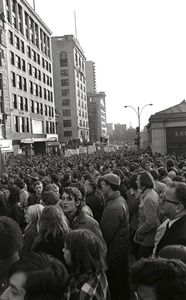 Thumbnail of Protests the day after the Chicago Seven conviction on the Boston Common