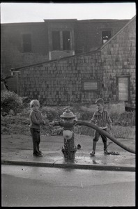 Thumbnail of Boys playing with fire hydrant
