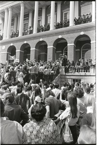 Thumbnail of Demonstration at State House against the killings at Kent State: protesters at the State House