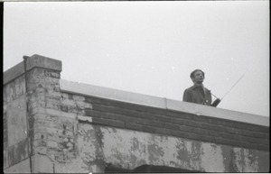 Thumbnail of MIT I-Lab demonstration: protester on rooftop