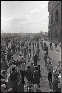 Thumbnail of Anti-war rally at Soldier's Field, Harvard University: demonstrators in front of Harvard Stadium