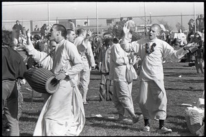 Thumbnail of Anti-war rally at Soldier's Field, Harvard University: Hare Krishna dancing and chanting