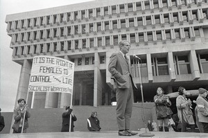 Thumbnail of Abortion reform rally at Boston City Hall: Josiah Spaulding speaking