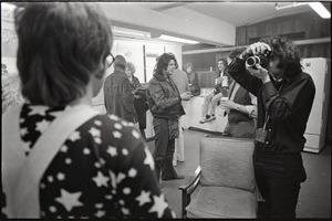 Thumbnail of Elton John backstage and performing at the Boston Tea Party: Elton John with photographer
