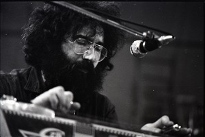 Thumbnail of New Riders of the Purple Sage opening for the Grateful Dead at Sargent Gym, Boston University: Jerry Garcia playing a pedal steel guitar