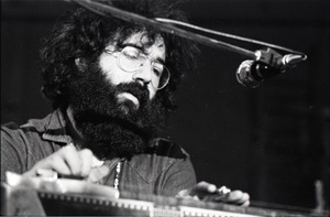 Thumbnail of New Riders of the Purple Sage opening for the Grateful Dead at Sargent Gym, Boston University: Jerry Garcia on pedal steel guitar