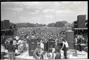 Thumbnail of May Day concert at West Potomac Park: Mitch Ryder with Detroit,             Washington Monument in distance