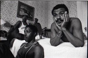 Thumbnail of Persuasions at the Lenox Hotel: from left, Jerry Lawson, Herbert 'Toubo' Rhoad, Jimmy Hayes
