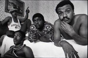 Thumbnail of Persuasions at the Lenox Hotel: from left, Jerry Lawson, Herbert 'Toubo' Rhoad, Jessie 'Sweet Joe' Russell, Jimmy Hayes