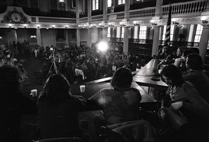Thumbnail of Vietnam Veterans Against the War Winter Soldier Investigation: Faneuil Hall audience from behind panel
