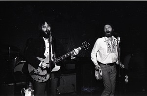 Thumbnail of Beach Boys at Boston College: Carl Wilson (l) with Mike Love