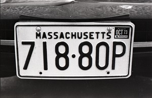 Thumbnail of Massachusetts automobile license plate