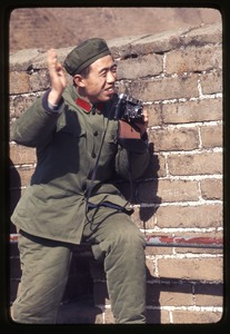 Thumbnail of People's Liberation Army soldier smiling, thanks for picture