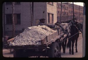 Thumbnail of General Petrochemical Works -- cart with fertilizer, horses, driver