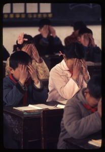 Thumbnail of Hsiao Ying Primary School -- doing eye exercises