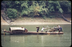 Thumbnail of Boat hauling tractor