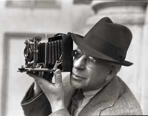 Thumbnail of Sam Connor and Bob Emery: man taking a photograph with a Zeiss Ikon camera