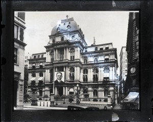 Thumbnail of Old City Hall, Boston, mocked up with large image of James Michael Curley