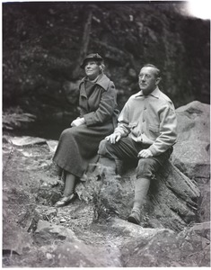 Thumbnail of Thomas and Blanche Dreier, seated on a rock