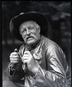 Thumbnail of Unidentified man with pipe and cowboy hat