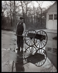 Thumbnail of Otis Fish, the blind clam digger of Falmouth, with his pull cart
