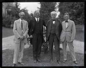 Thumbnail of Henry Ford, Gov. Alvan Fuller, Thomas A. Edison, and Harvey Firestone (l. to r.)