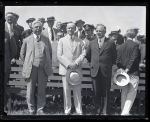 Thumbnail of William M. Butler, Calvin Coolidge, an Alvan T. Fuller (l. to r.)