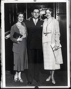 Thumbnail of Gladys Glad Hellinger, Mark Hellinger, and unidentified woman (r. to l.)