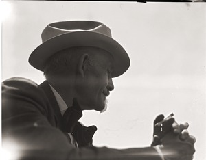 Thumbnail of Franklin I. Jordan, photographer: backlit portrait in profile
