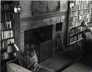 Thumbnail of Living room and fireplace at Sinclair Lewis' home