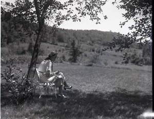Thumbnail of Dorothy Thompson Seated under a tree