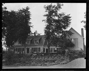 Thumbnail of Home of Sinclair Lewis and Dorothy Thompson Summer home of Dorothy Thompson, Twin Farms Barnard. Front of house looking          down the valley