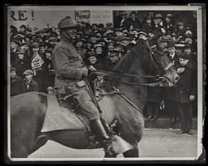 Thumbnail of General Edward Lawrence Logan riding horse Part of the parade welcoming the 26th Yankee Division back from service in the          First World War
